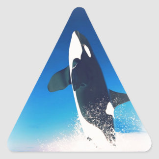 Going for the Breach Killer Whale Triangle Sticker