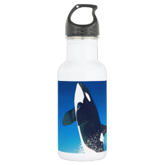 Going for the Breach Killer Whale Water Bottle