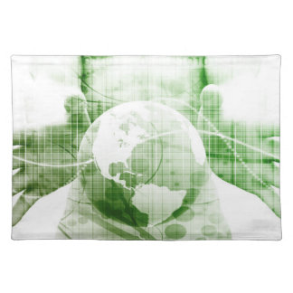 Going Forward with Business Success and Growth Cloth Placemat