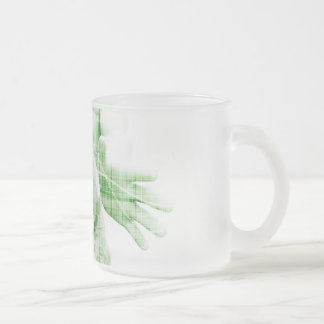 Going Forward with Business Success and Growth Frosted Glass Coffee Mug