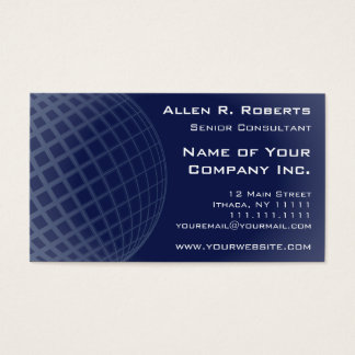 Going Global Elegant Dark Blue Modern Corporate Business Card