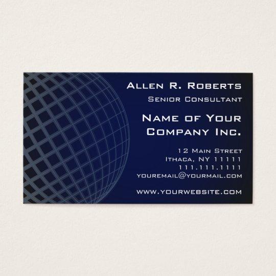 Going Global Elegant Dark Blue Modern Professional Business Card