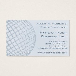 Going Global Elegant Pale Blue Modern Corporate Business Card