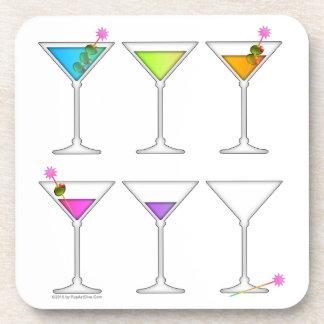 Going, Going, Gone - Disappearing Martini Cork Coa Coaster