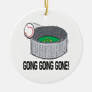 Going Going Gone Double-Sided Ceramic Round Christmas Ornament