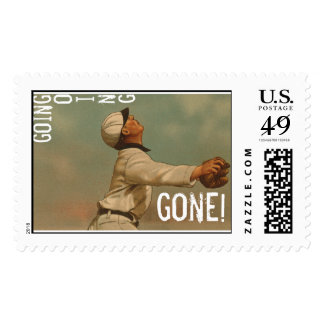 Going Going Gone Postage Stamp