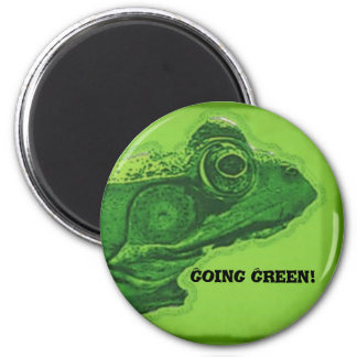 Going Green! 2 Inch Round Magnet