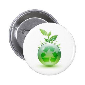 Going Green Pinback Button