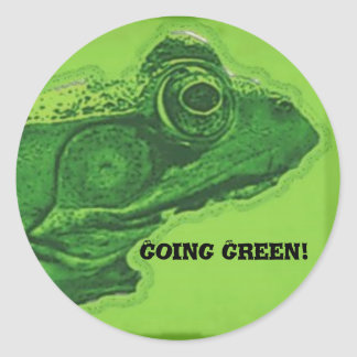 Going Green! Classic Round Sticker