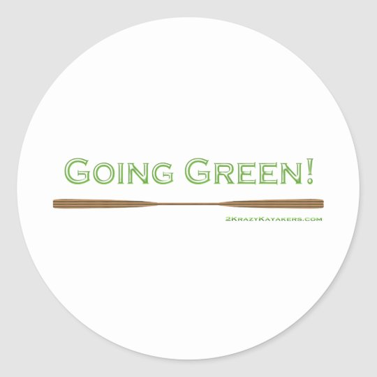 Going Green Classic Round Sticker