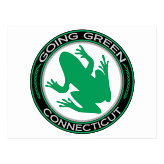 Going Green Connecticut Frog Postcard