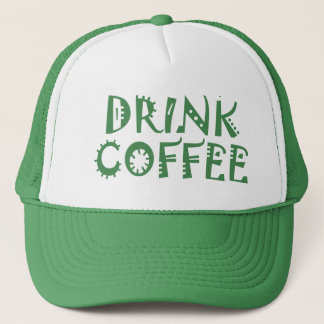 Going green drink coffee trucker hat