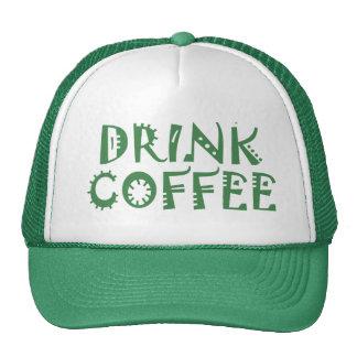 Going green drink coffee trucker hat