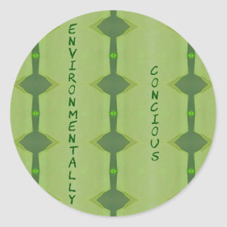 Going Green Environmentally Conscience Classic Round Sticker