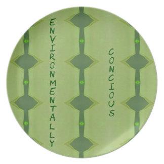 Going Green Environmentally Conscience Melamine Plate