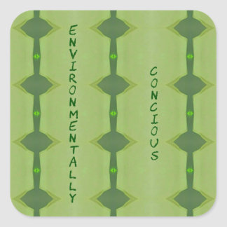 Going Green Environmentally Conscience Square Sticker