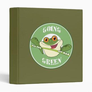 Going Green Frog Binder