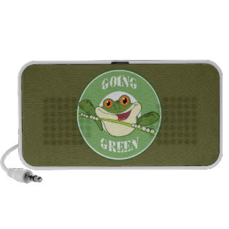 Going Green Frog Speakers