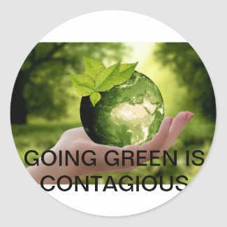 Going Green is Contagious Sticker