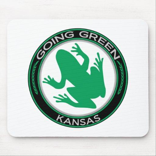 Going Green Kansas Frog Mouse Mats