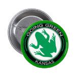 Going Green Kansas Frog Pin