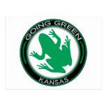 Going Green Kansas Frog Post Card