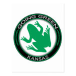 Going Green Kansas Frog Postcard