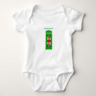 """Going green"" London phone box Baby Bodysuit"