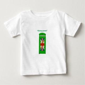 """Going green"" London phone box Baby T-Shirt"