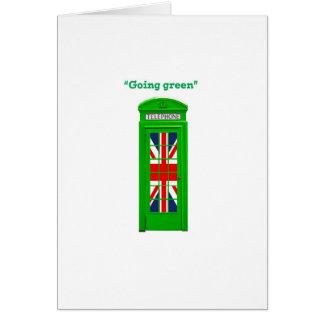 """Going green"" London phone box Card"
