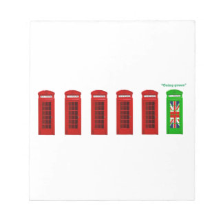 Going Green London phone box Note Pads