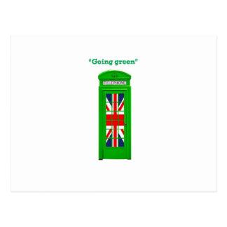 """Going green"" London phone box Postcard"
