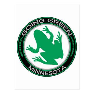 Going Green Minnesota Frog Postcard