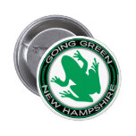 Going Green New Hampshire Frog Button