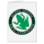 Going Green New Hampshire Frog Card