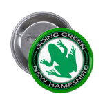 Going Green New Hampshire Frog Pin