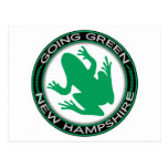 Going Green New Hampshire Frog Postcards