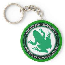 Going Green North Carolina Frog Keychain