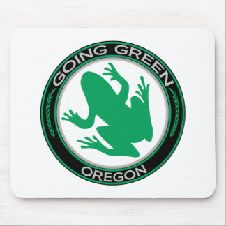 Going Green Oregon Frog Mouse Pad