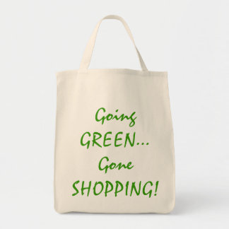 Going Green Organic Grocery Tote
