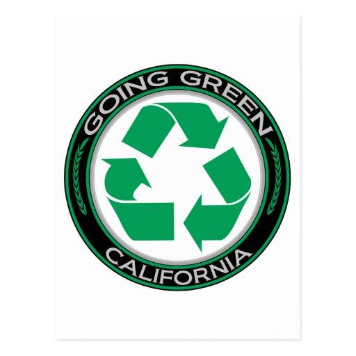 Going Green Recycle California Postcard