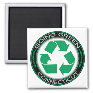 Going Green Recycle Connecticut Magnet