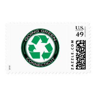 Going Green Recycle Connecticut Postage Stamps