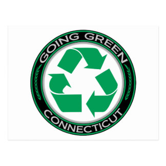 Going Green Recycle Connecticut Postcard