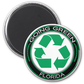 Going Green Recycle Florida Magnet