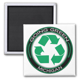 Going Green Recycle Michigan Magnet