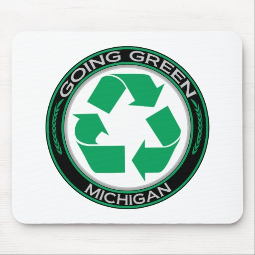 Going Green Recycle Michigan Mouse Pad