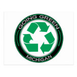 Going Green Recycle Michigan Post Cards