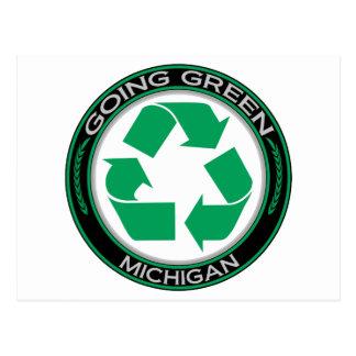 Going Green Recycle Michigan Postcard
