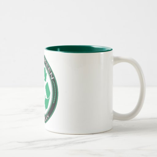 Going Green Recycle Michigan Two-Tone Coffee Mug